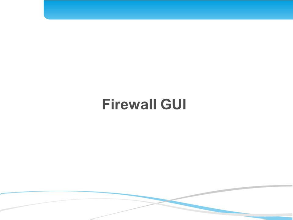 Firewall GUI