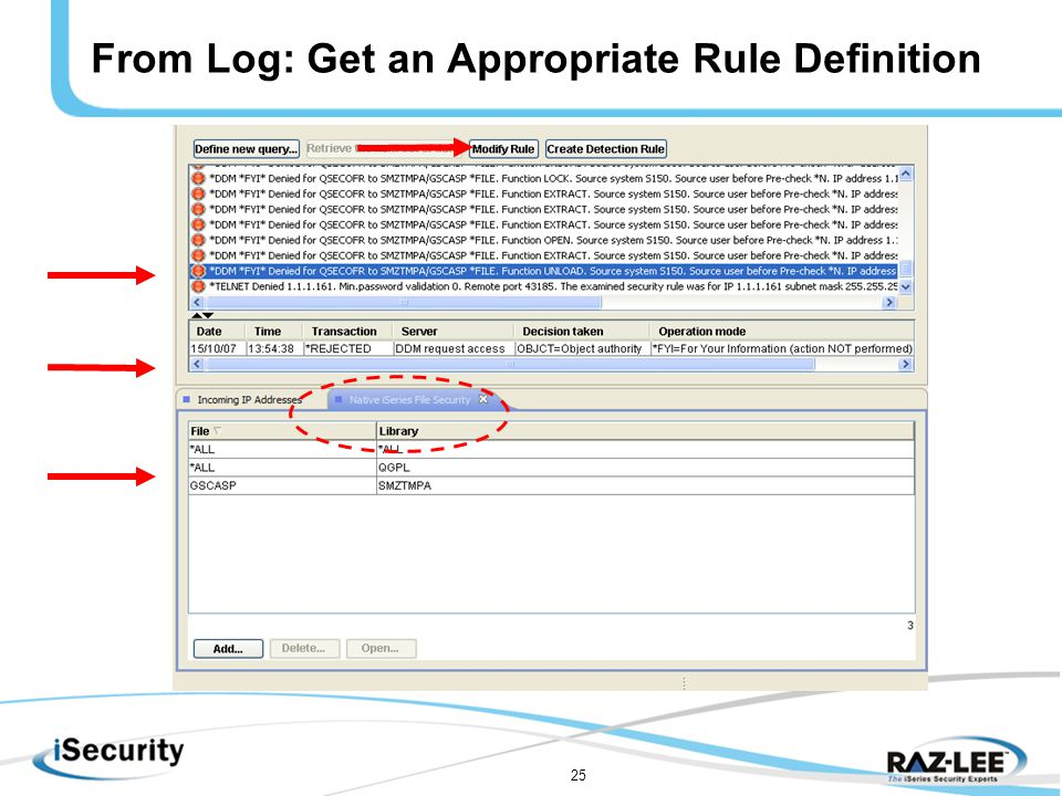 25 From Log: Get an Appropriate Rule Definition