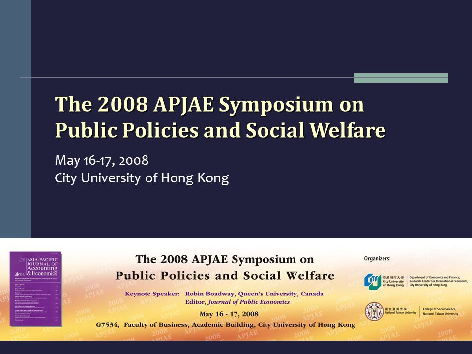 2008 APJAE Symposium on Public Policies and Social Welfare Group photo