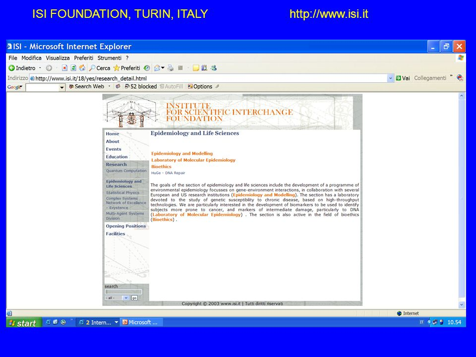 http://perseus.isi.it/huge ISI FOUNDATION, TURIN, ITALY