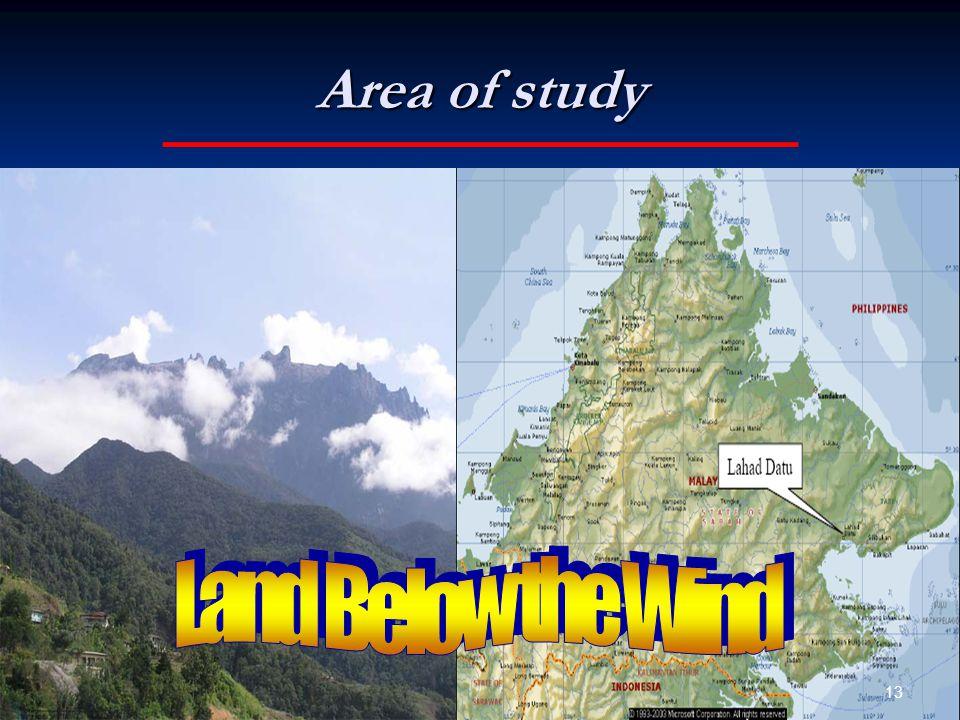Area of study 13