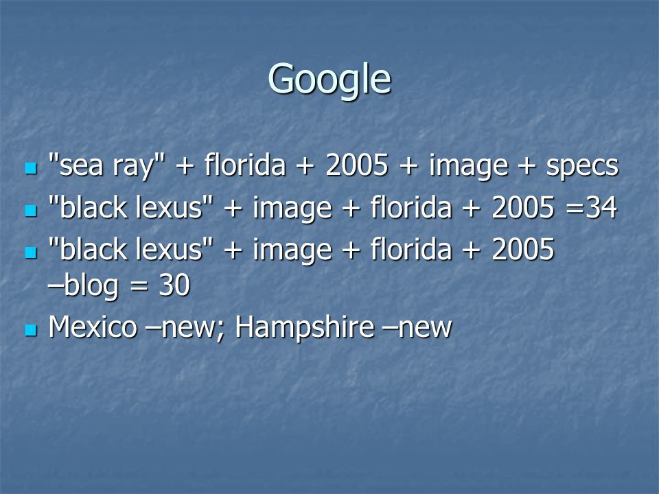 Google sea ray + florida image + specs sea ray + florida image + specs black lexus + image + florida =34 black lexus + image + florida =34 black lexus + image + florida –blog = 30 black lexus + image + florida –blog = 30 Mexico –new; Hampshire –new Mexico –new; Hampshire –new
