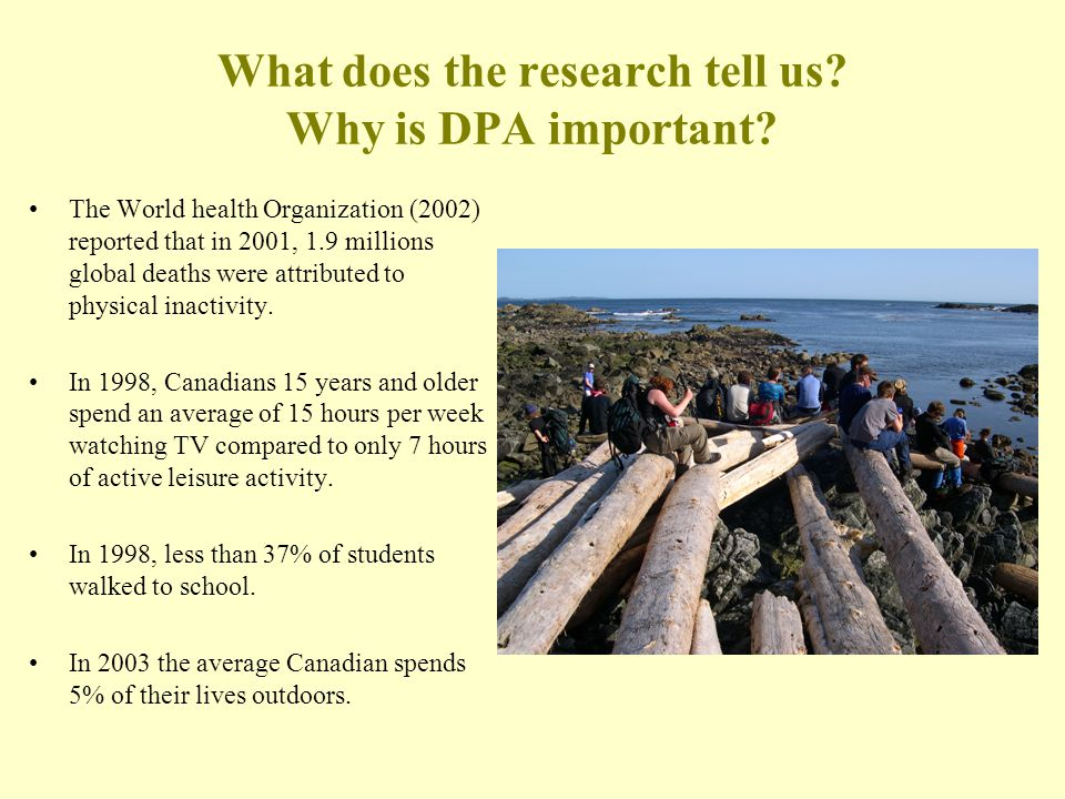 What does the research tell us.Why is DPA important.