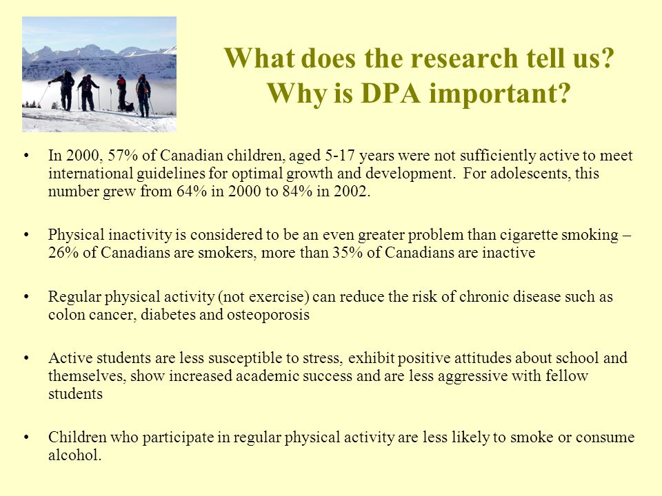What does the research tell us. Why is DPA important.