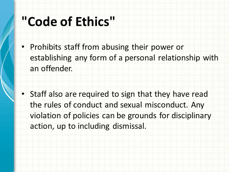 Staff Sexual Misconduct: AD-PR-33 Iowa DOC has Zero Tolerance for Sexual Misconduct/Harassment/Assault