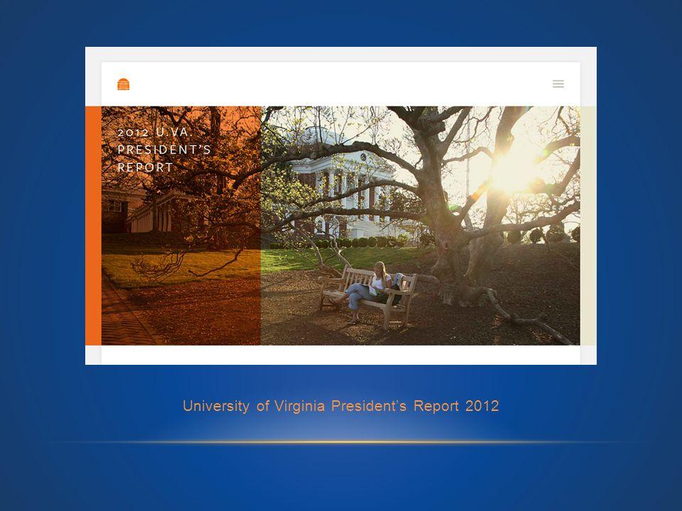 University of Virginia President's Report 2012