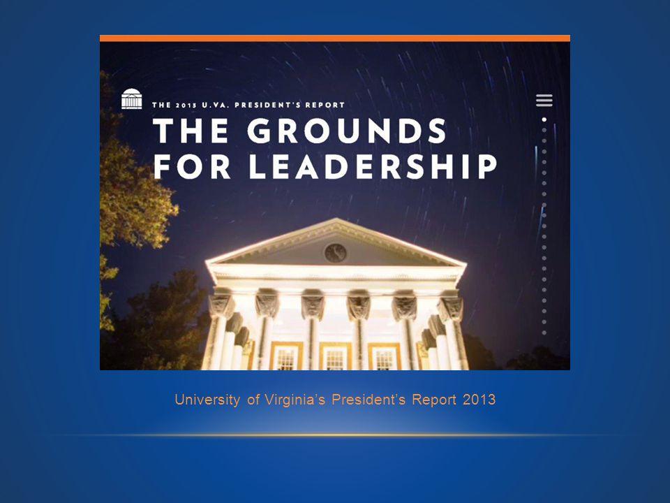 University of Virginia's President's Report 2013