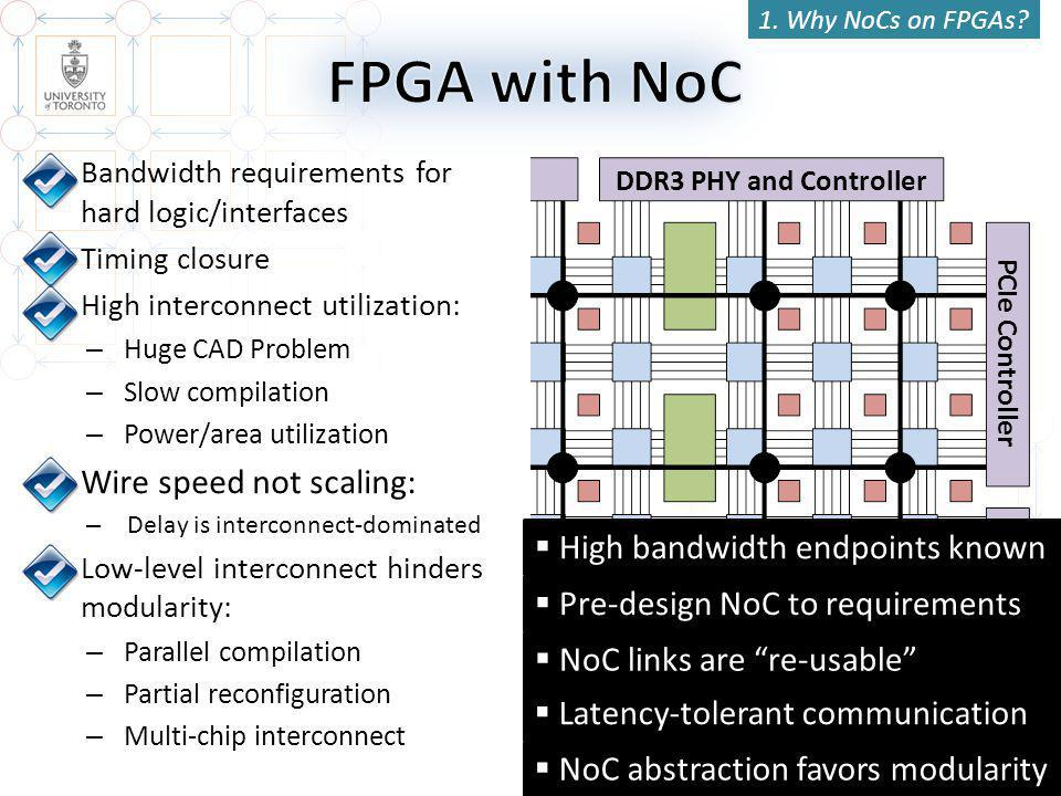 13 DDR3 PHY and Controller 1. Why NoCs on FPGAs.