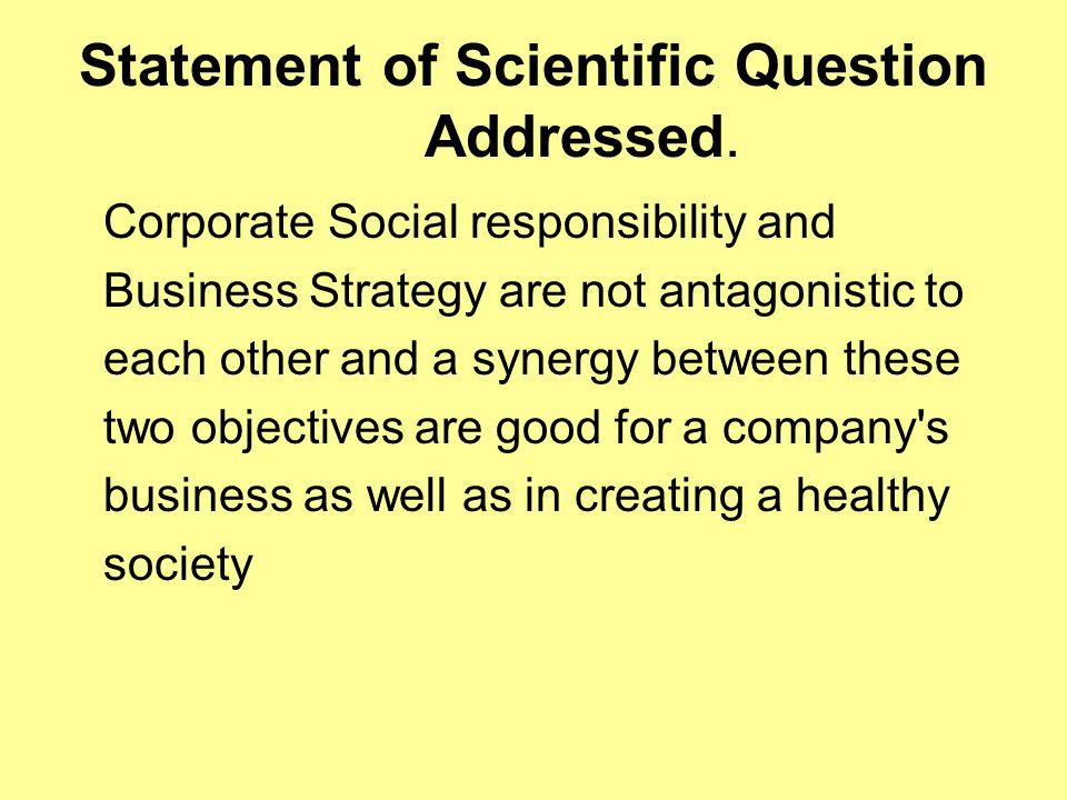 Brief Description of Methodology.