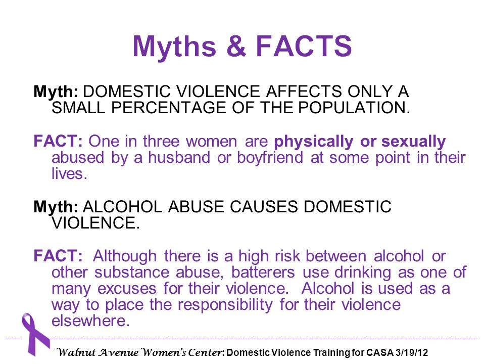 Myth: WHY DO WOMEN STAY WITH ABUSERS.THEY MUST LIKE IT OR THEY WOULD LEAVE.