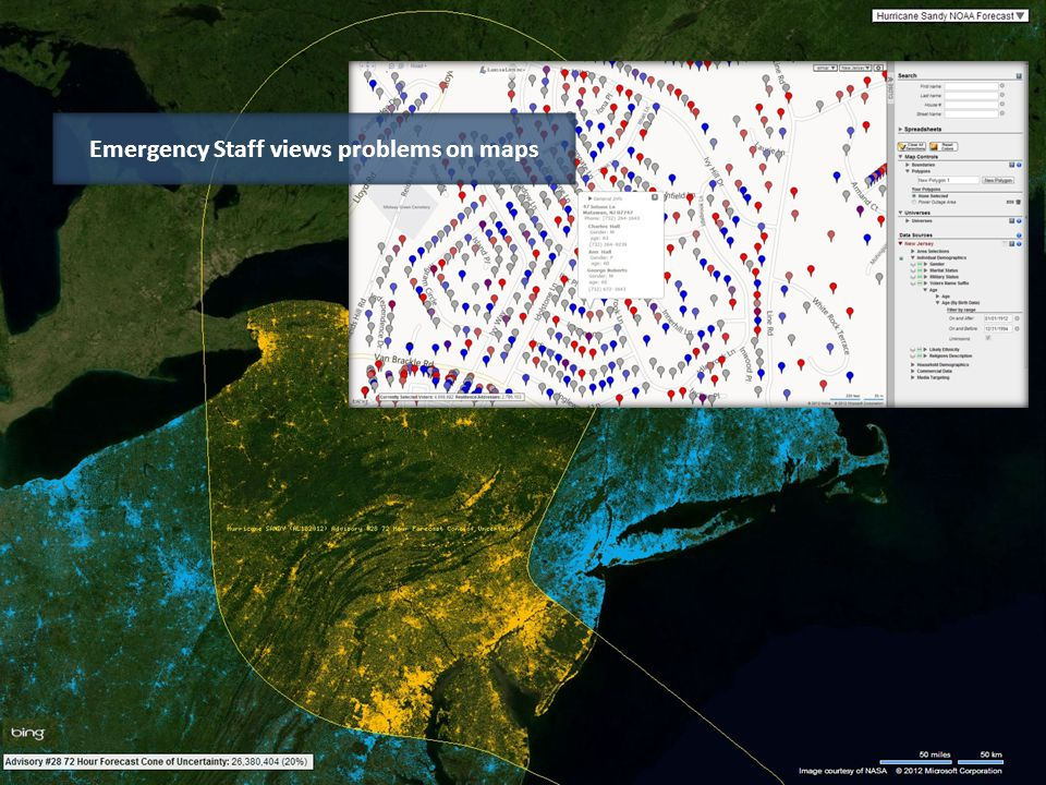 Emergency Staff views problems on maps