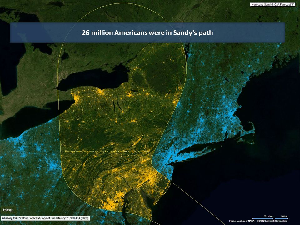26 million Americans were in Sandy's path