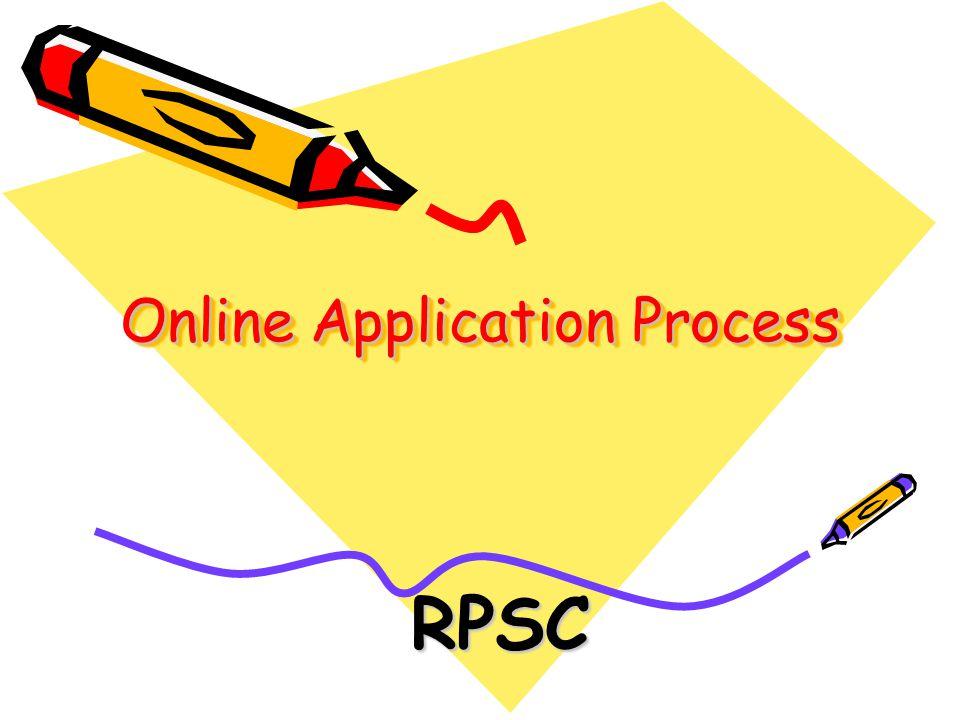 Online Application Process RPSC