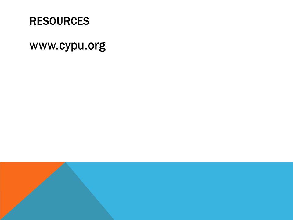 RESOURCES www.cypu.org