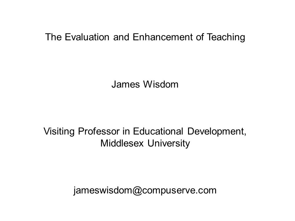 g) Applications for promotion to Teaching Fellowships Self-evaluation valuable Real impact is from the whole scheme h) Web-based discussion forum Suitable for blended learning (part face to face, part web-based) Too many traditional methods adapted for the web We are slow to devise new mechanisms for evaluation of web based courses
