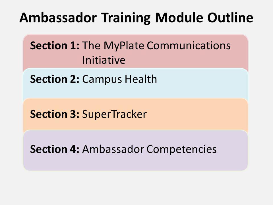 Ambassador Competencies Section 4: