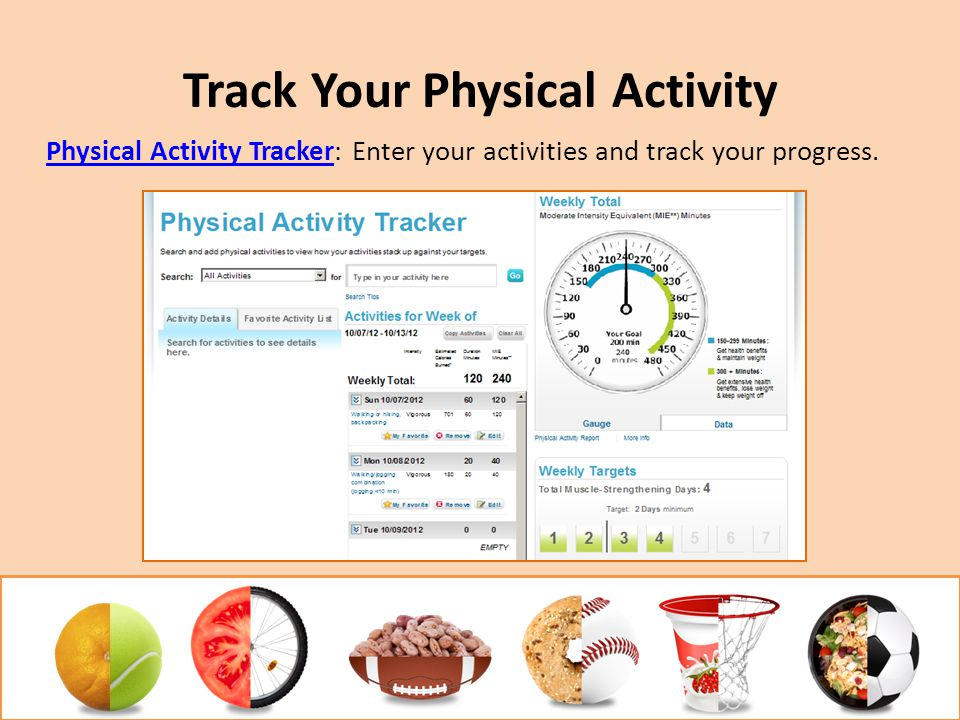 Track Your Physical Activity Physical Activity TrackerPhysical Activity Tracker: Enter your activities and track your progress.