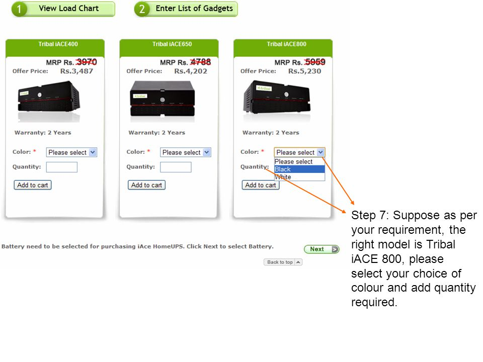 Step 8: Click on Add to Cart and wait for the page to load.