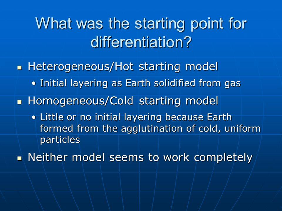 When did differentiation happen.