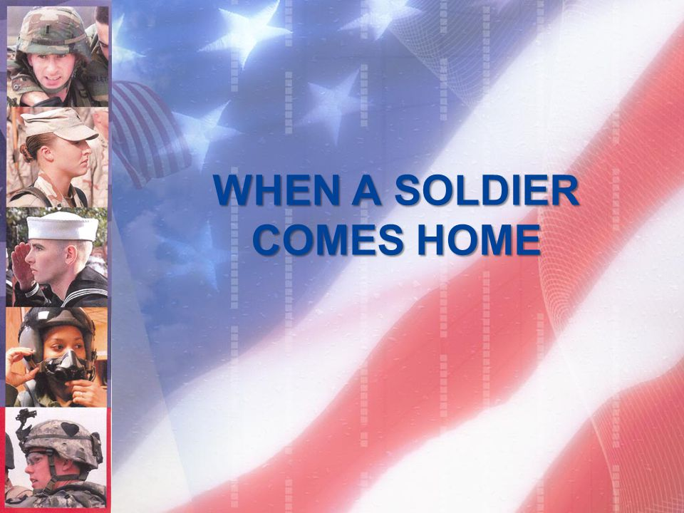 WHEN A SOLDIER COMES HOME, HE FINDS IT HARD....