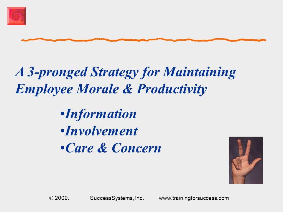 © 2009. SuccessSystems, Inc. www.trainingforsuccess.com WELCOME.