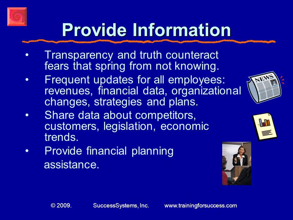 © 2009. SuccessSystems, Inc.