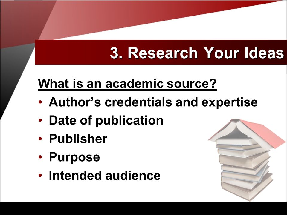 What is an academic source.