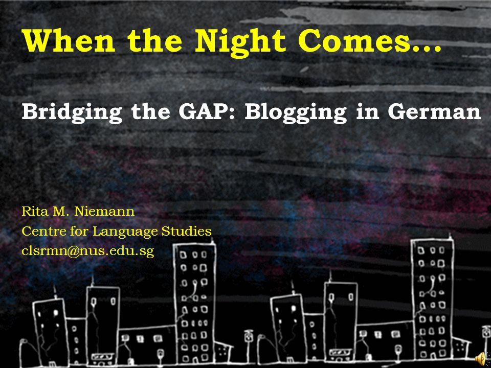 Bridging the GAP in AY2010/11 GAP: German for Academic Purposes –39 Students under the SEP Language Preparation Programme –Semester 4 –2 lectures & 1 tutorial per week