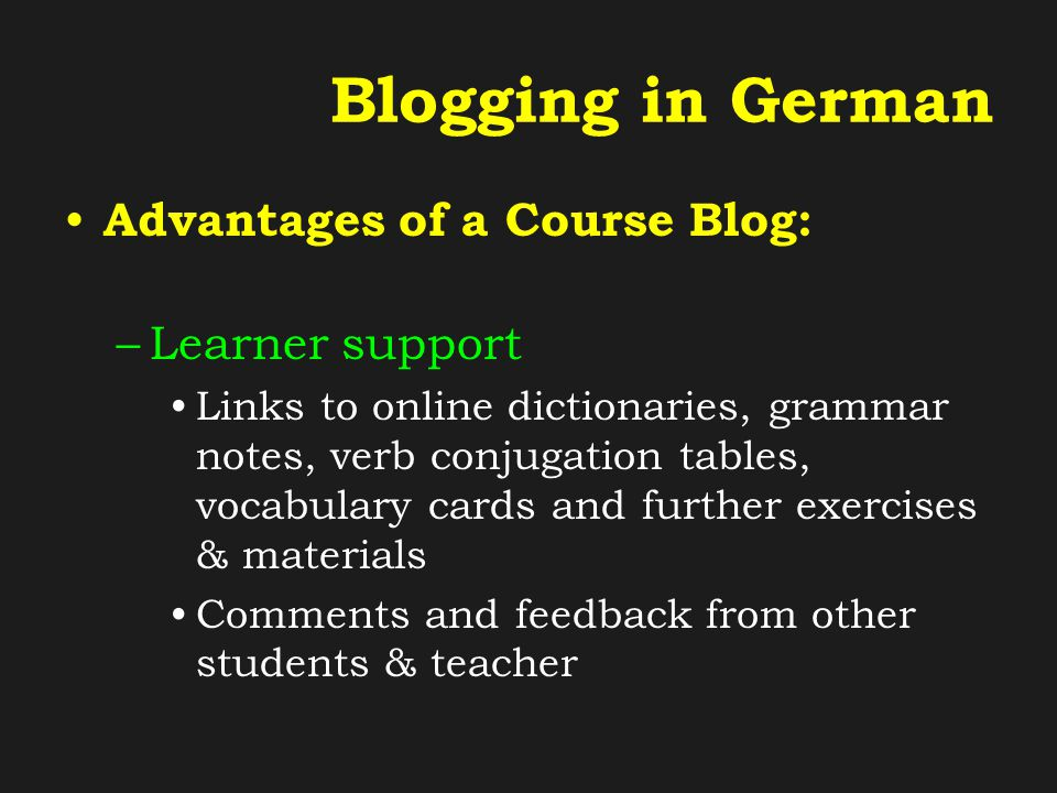 AY2009/2010, Sem II My first Blog –XCHANGE: D&CH –LAG3203 German for Academic Purposes