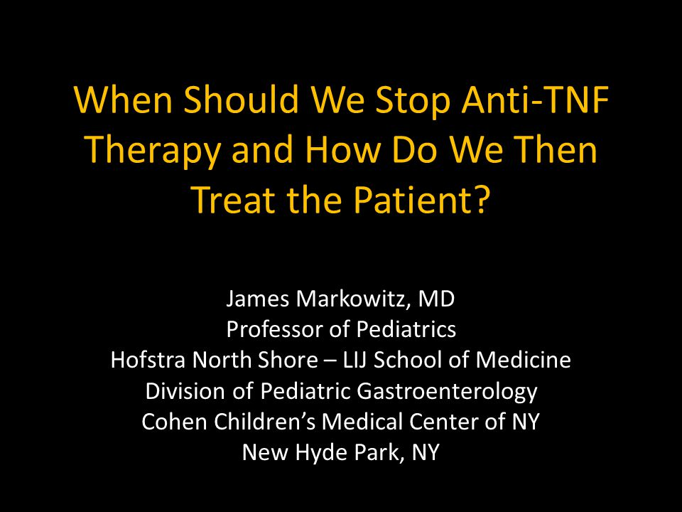 How do we treat after stopping anti-TNF Rx.