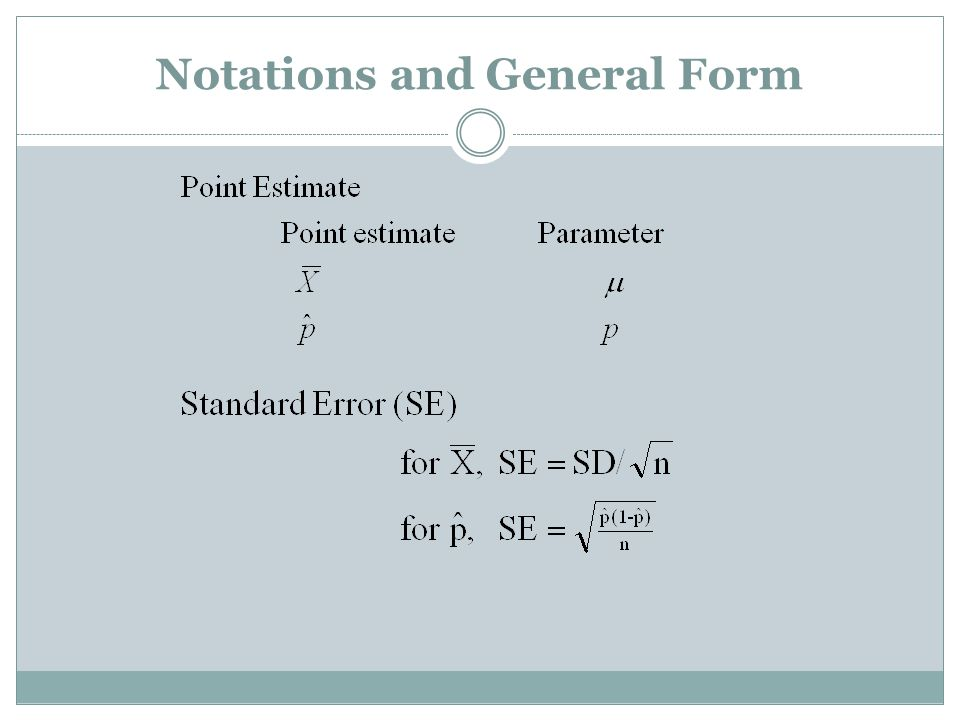 Notations and General Form