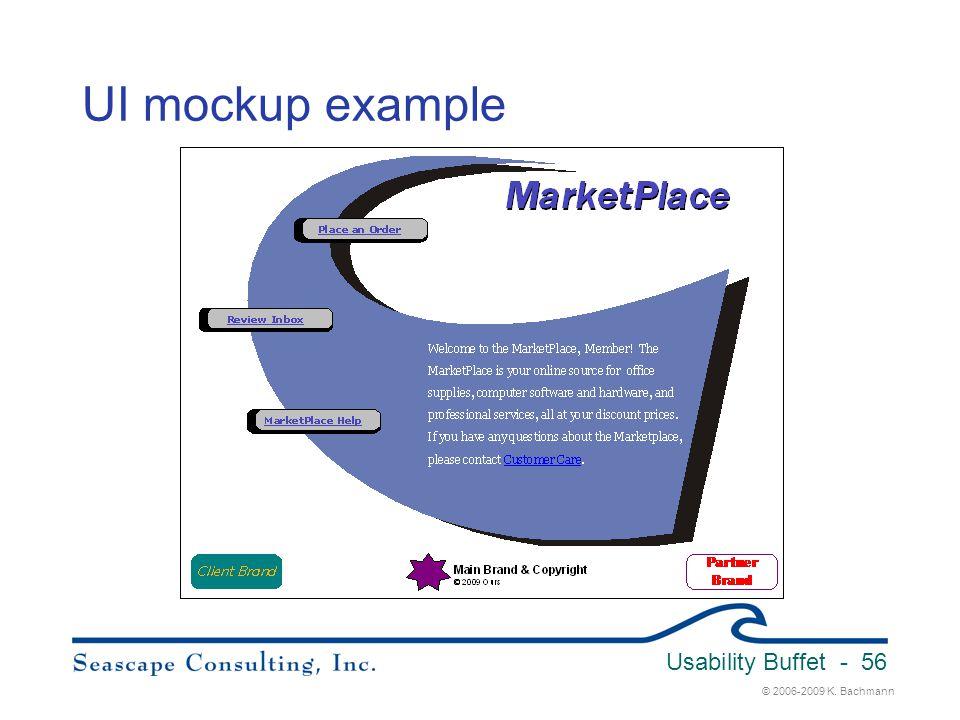 © 2006-2009 K. Bachmann Usability Buffet - 56 UI mockup example