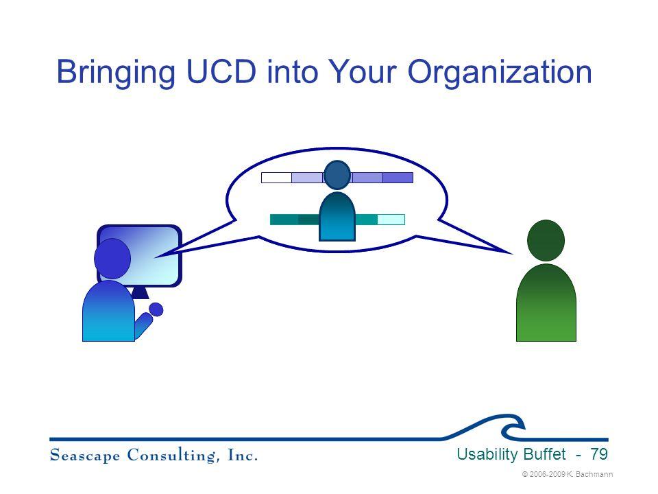 © 2006-2009 K. Bachmann Usability Buffet - 79 Bringing UCD into Your Organization