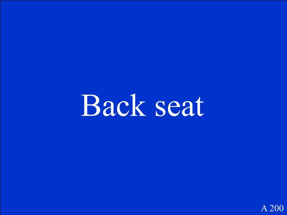 Back seat A 200