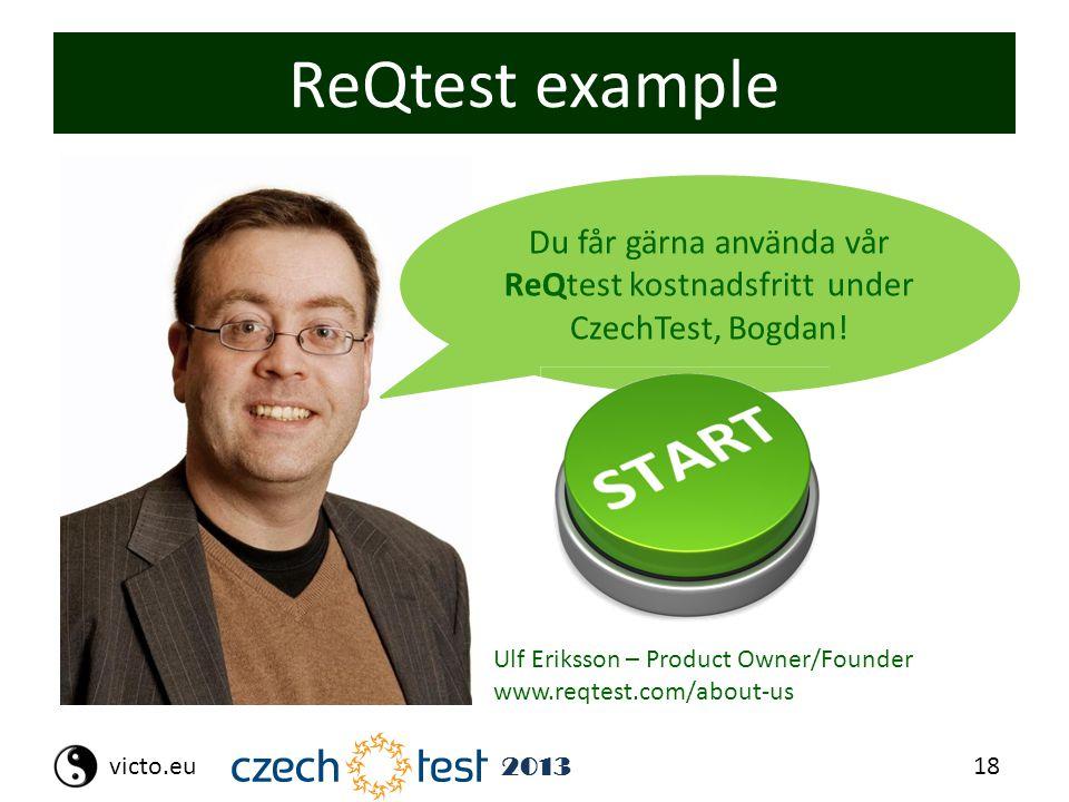 18victo.eu 2013 ReQtest example Du får gärna använda vår ReQtest kostnadsfritt under CzechTest, Bogdan.