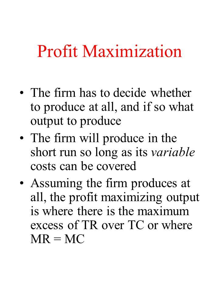 Profit Maximum: TR and TC TC TR Q'Q Economic Profit $ Q Q Profit Loss 0 Q' Q Q* Profit/Loss Profit Max