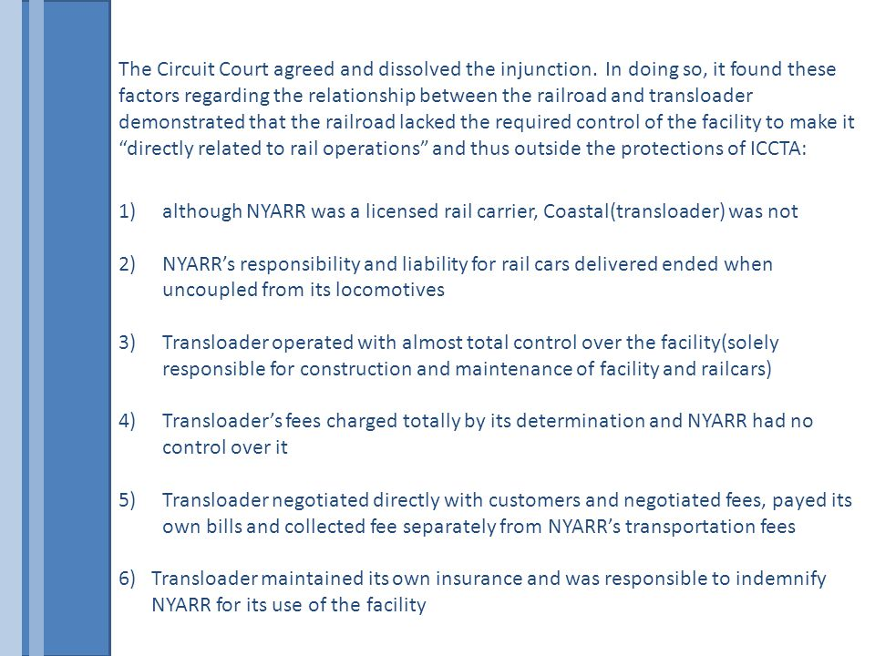 The Circuit Court agreed and dissolved the injunction.