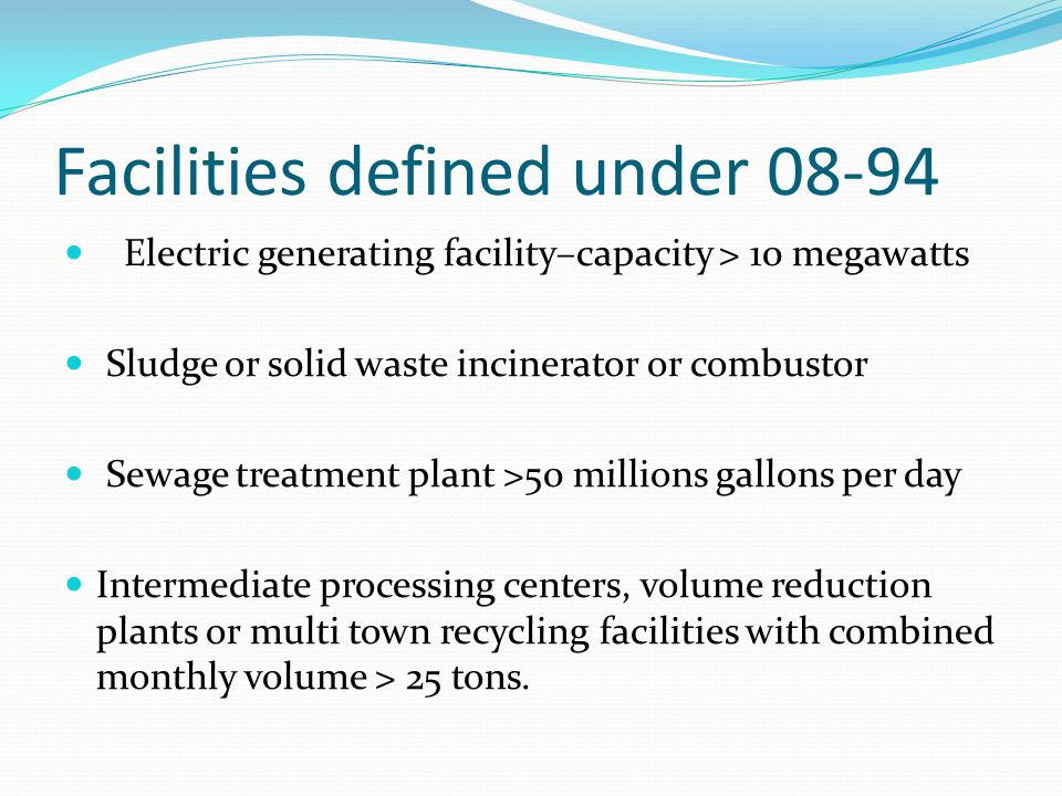 Water: Non-minor Permit Modification The expansion, alteration, production increase or process modification that results in: New water discharge Added new substances, materials, or pollutant discharges Increase in quantity or concentration of existing pollutant beyond existing permit conditions