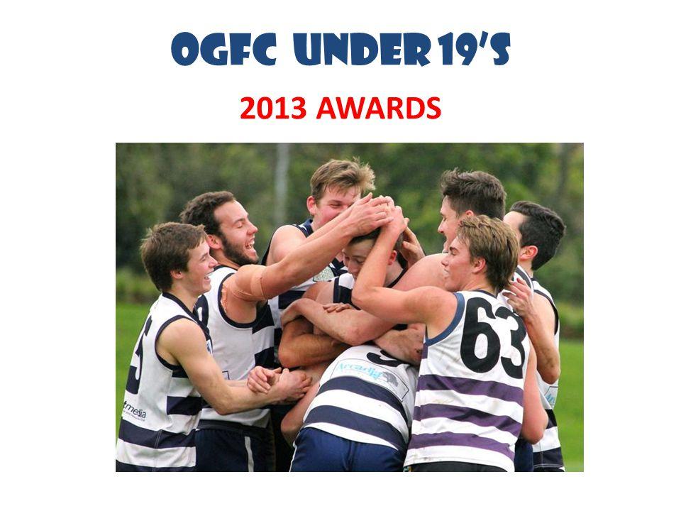 OGFC UNDER 19's 2013 AWARDS