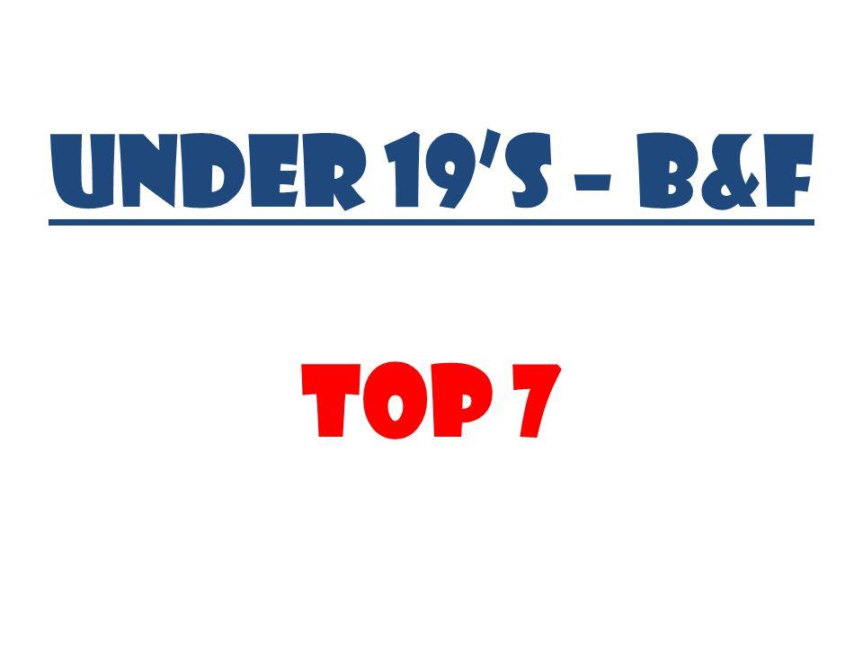 UNDER 19's – B&F Top 7
