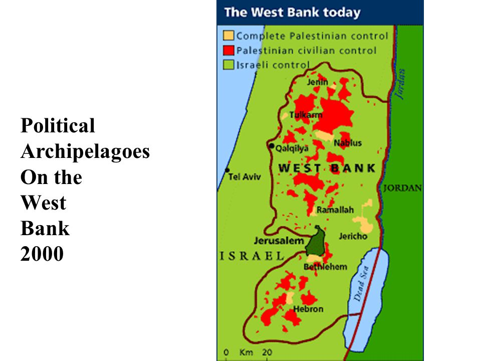 Political Archipelagoes On the West Bank 2000