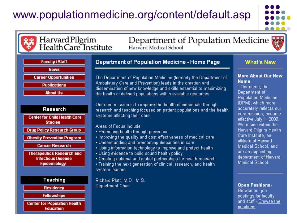 Oct 27, 2009Academia Sinica4 www.populationmedicine.org/content/default.asp