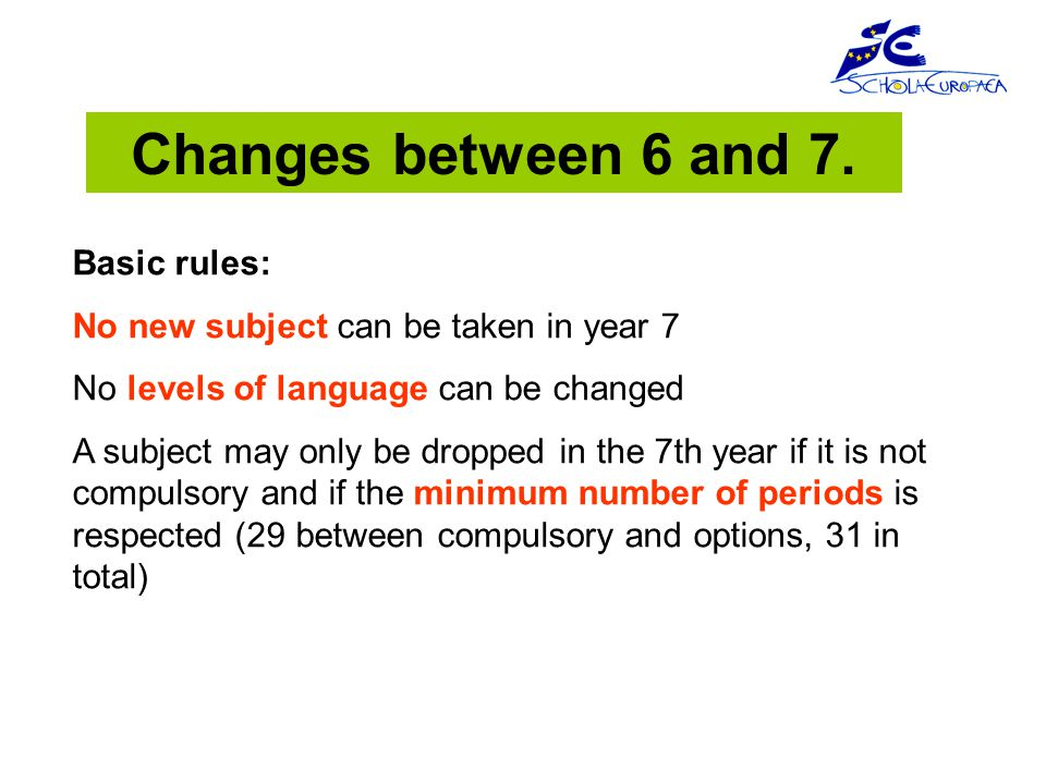 Changes between 6 and 7.