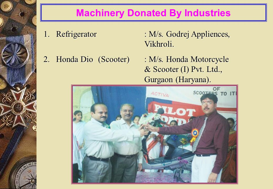 Magel Tyala Vyavasay Prashikshan Sr. No. TradeNo. of TraineesGranted Amt from Govt.for Raw Material /Tool Kit, Overhead Charges/Stipend / Ind. Trg. /