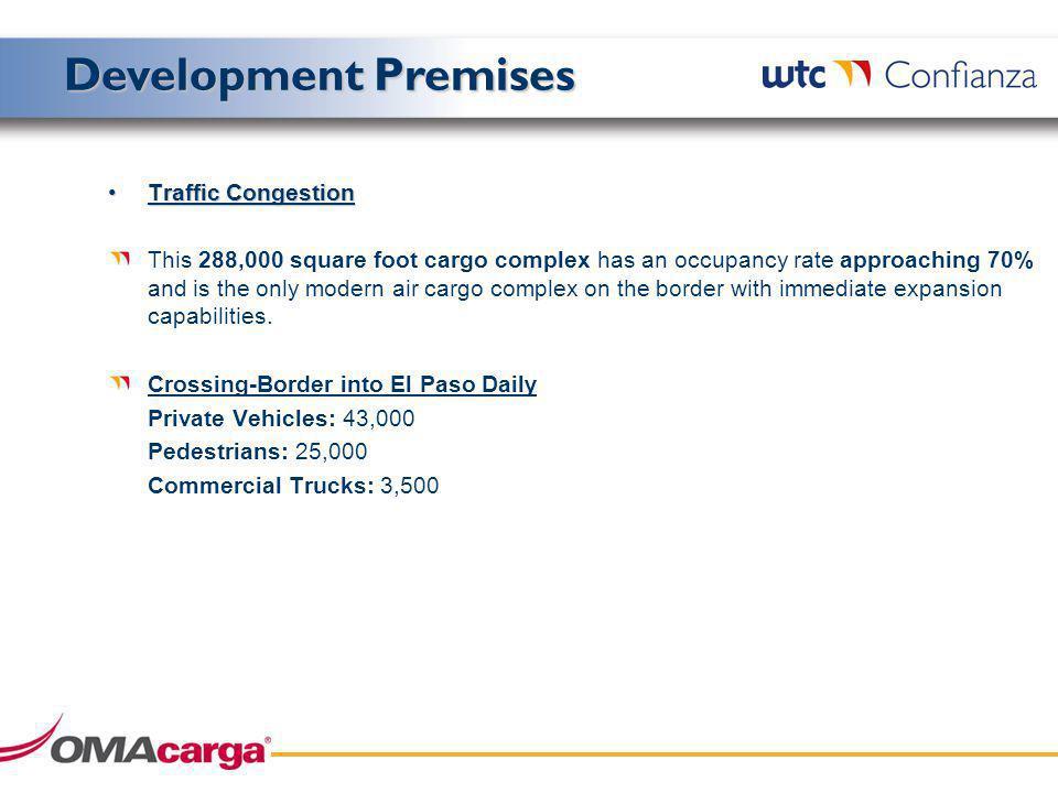 Aeropuerto de Ciudad Juárez Plan Estado Actual Desarrollo Inmobiliario 1.5ha 0.5ha 13 Ha Zona Prevista en el Plan Maestro para la Fase Final de desarrollo de la Carga (Implica la reubicación del VOR actual) 7.2 Ha Zona Prevista en el Plan Maestro para el desarrollo de parques industriales (Implica la reubicación del VOR actual)