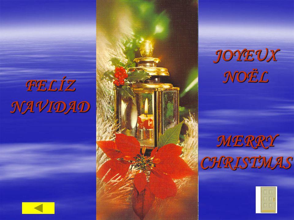FELÍZ NAVIDAD JOYEUX NOËL MERRY CHRISTMAS