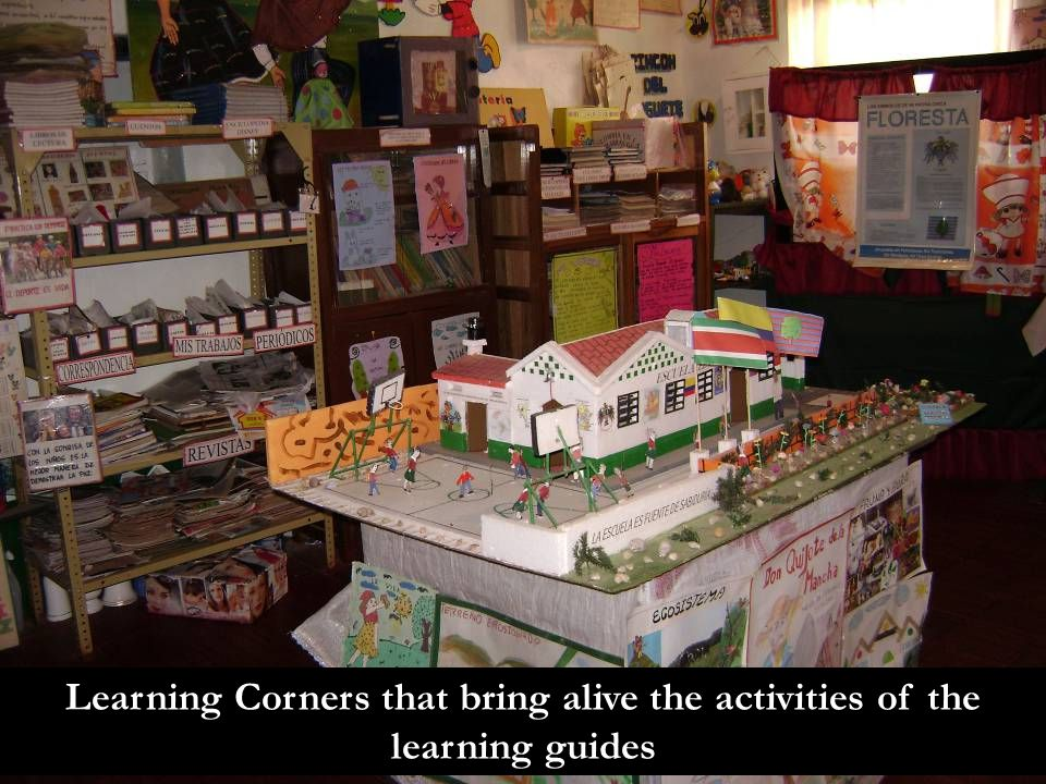 Learning Corners that bring alive the activities of the learning guides