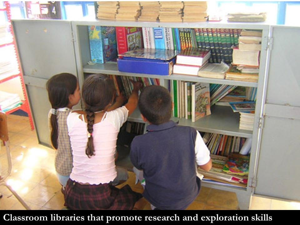 Classroom libraries that promote research and exploration skills
