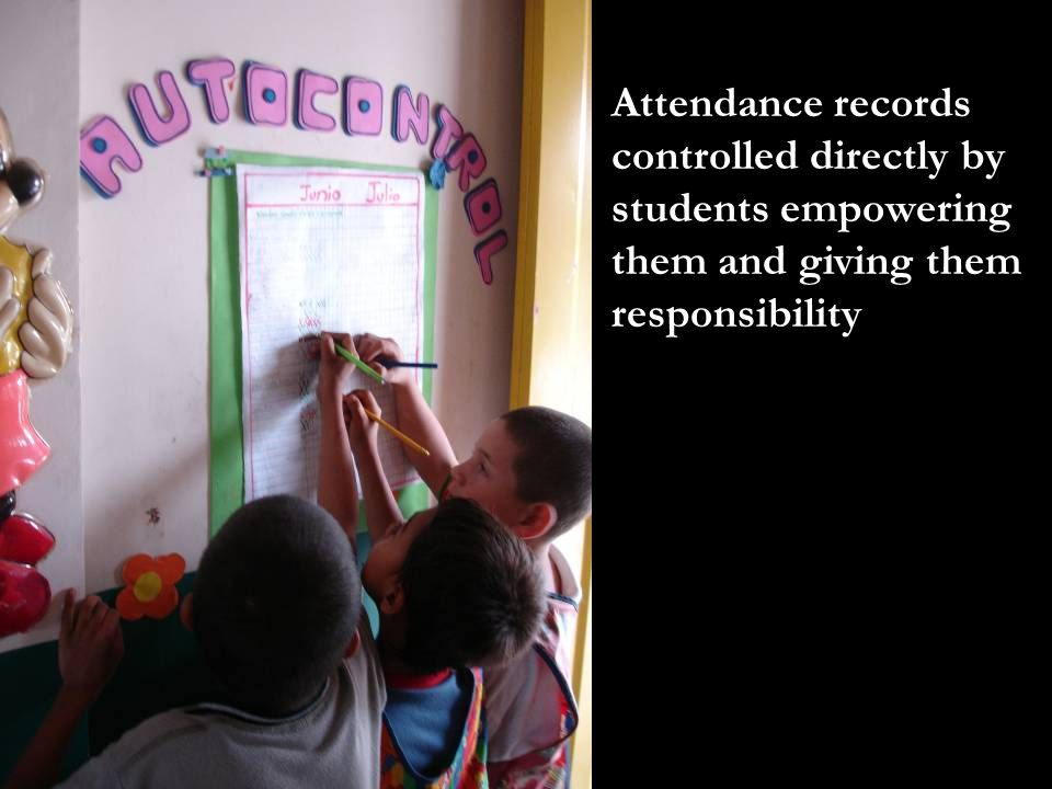Attendance records controlled directly by students empowering them and giving them responsibility