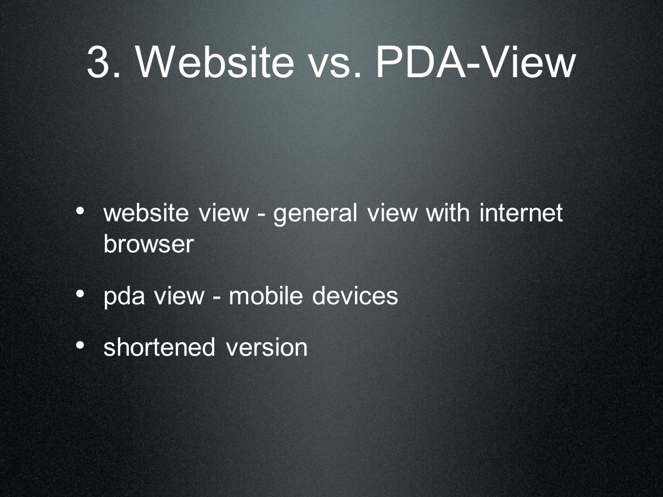 3. Website vs.
